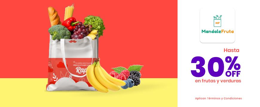 Mandale Fruta hasta 30% productos seleccionados
