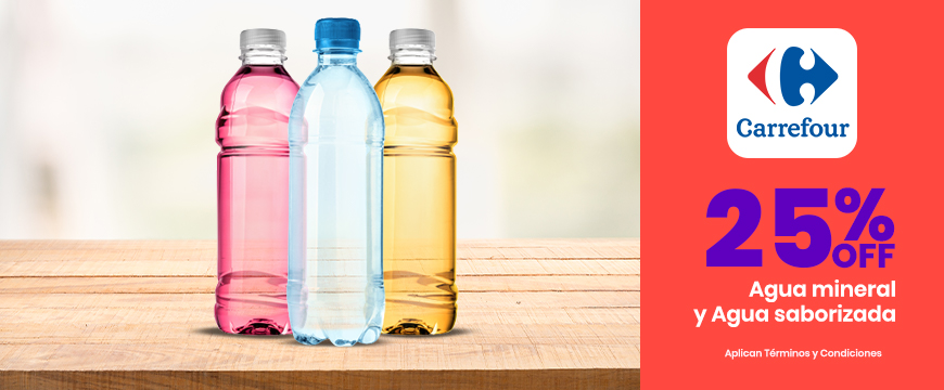 25% OFF en Aguas minerales y Aguas saborizadas
