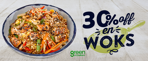 Restaurantes - Green & Company - 30 Off en Woks