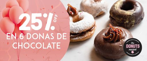 The Donuts Market - 25% off Banner