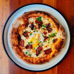 Pizza Panceta & Huevo