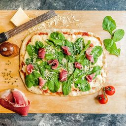 Pizza Rústica Rúcula y Jamón Crudo