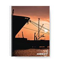 Cuaderno Cuadriculado América Terra 80 Hojas