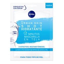 Máscara En Tela  Nivea Urban Skin Shot Hidratante X 1 Un