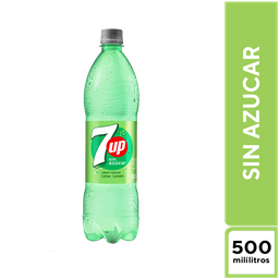7Up Lima Limón Sin Azúcar 500 ML