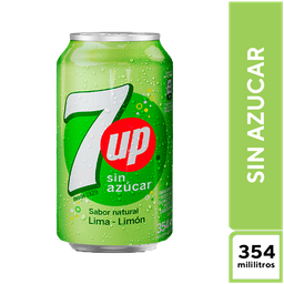 7Up Lima Limón Sin Azúcar 354 ML