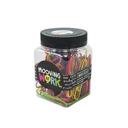 Clips de colores flúo - Presentación:  frasco x color 80 clips.