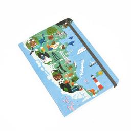 Cuaderno cosido Fera A5 T/semi rígida Patagonia - 64 hojas