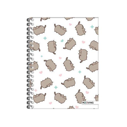 Cuaderno Pusheen A5 16x21 espiral Tapa Dura 80 hjs.