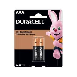 Pilas Alcalinas Duracell AAA -  blister por 2 unidades