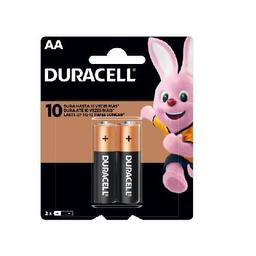 Pilas Alcalinas Duracell AA -  blister por 2 unidades.