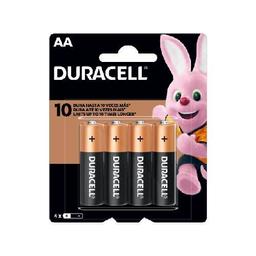 Pilas Alcalinas Duracell AA -  blister por 4 unidades