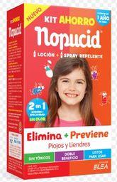 Nopucid Kit Ahorro Loc.+Repelente+2 Pouch