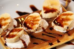 Waffle de Banana Split