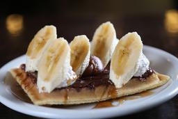 Waffle de Nutella & Banana
