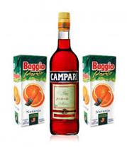 Combo Campari 750Ml + 2 Jugos Baggio Naranja 1L