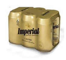Six Pack Imperial Amber Lager Lata 473Ml Cerveza