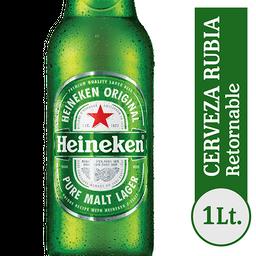 Cerveza Heineken Litro Ret Propietaria 1L