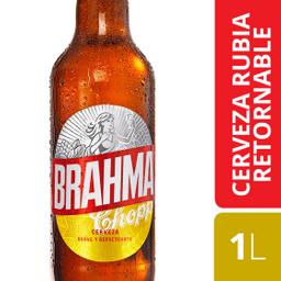 Cerveza Brahma Chopp Retornable 1 L