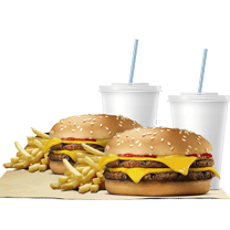 2 Combos Doble Carne Doble Queso