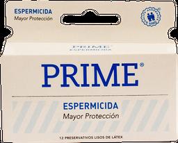 Prime - Preservativo Blanco Espermicida X 12un