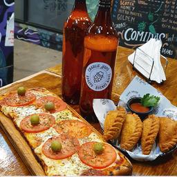 Combo Rappi - Pizza + 4 Empanadas + 2 Cervezas