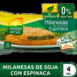 Granja Del Sol Milanesa De Soja Con Espinaca 4U