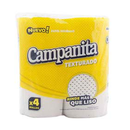 Papel Higiénico Campanita Hoja Simple 4 U