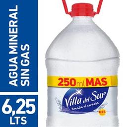 Agua mineral villa del sur sin gas