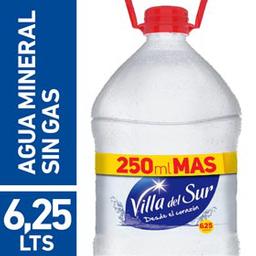 Agua Mineral  Villa Del Sur Sin Gas Bidón 6.25 L