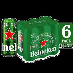 Cerveza Rubia Heineken 6 U X 473 cc