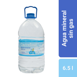 Agua Mineral Sin Gas Carrefour 6.5 L.