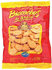 Bizcochos de grasa Arcor bolsa X 200 gr