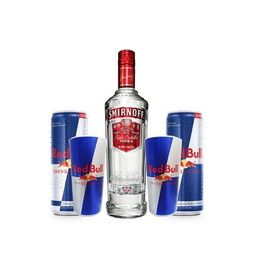 Pack Vodka Smirnoff 700 mL + Red Bull 250 Cc x 2 + Vaso 2 U