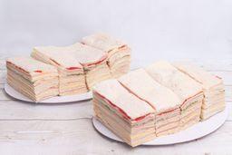 Sándwiches Triples J&Q x 50