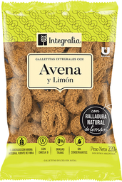 Galletitas Integralia Anillos Integrales Avena y Limon 200 g