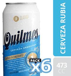 Cerveza Quilmes Clásica Lata 473 mL X 6