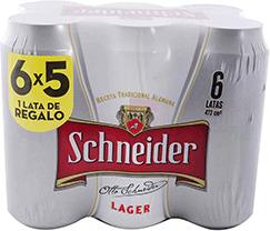 Cerveza Schneider Lager 473 mL X 6