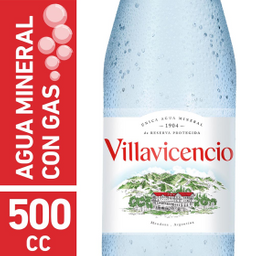 Agua Mineral Villavicencio Con Gas 500 mL