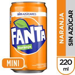 Fanta Naranja sin Azúcar 220 ml