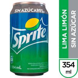 Sprite Lima Limón  sin Azúcar 354 ml