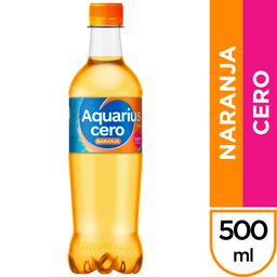 Aquarius Naranja Cero 500 ml