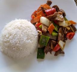 Arroz con Curry & Carne