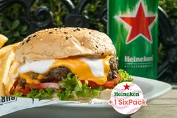 2 Cheese Burger & 6 Cervezas