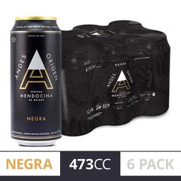 Andes Origen Negra Lata 6 Pack