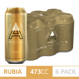 Andes Origen Rubia Lata 6 Pack