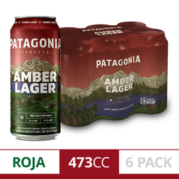 Patagonia Amber Lager Lata 473 Cc (Six Pack)