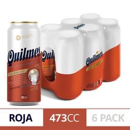 Quilmes Red Lata 473 Cc (Six Pack)