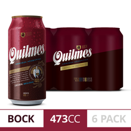 Quilmes Bock Lata 473 Cc (Six Pack)