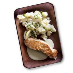 Salmón Rosada Con Papas y Salsa Cítrica 250 g